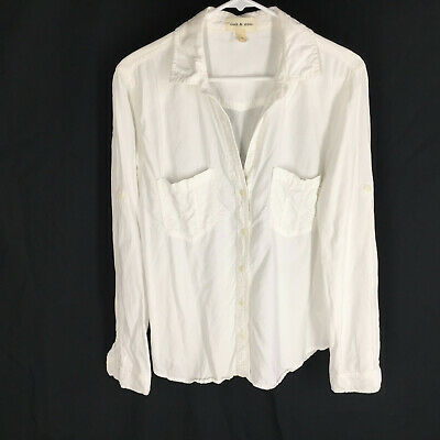 Cloth & Stone Anthropologie Shirt Size Large White Button Front Long Sleeve  #ebay #fashion