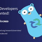Image for the Tweet beginning: #Golang #Decred #CryptoDevs