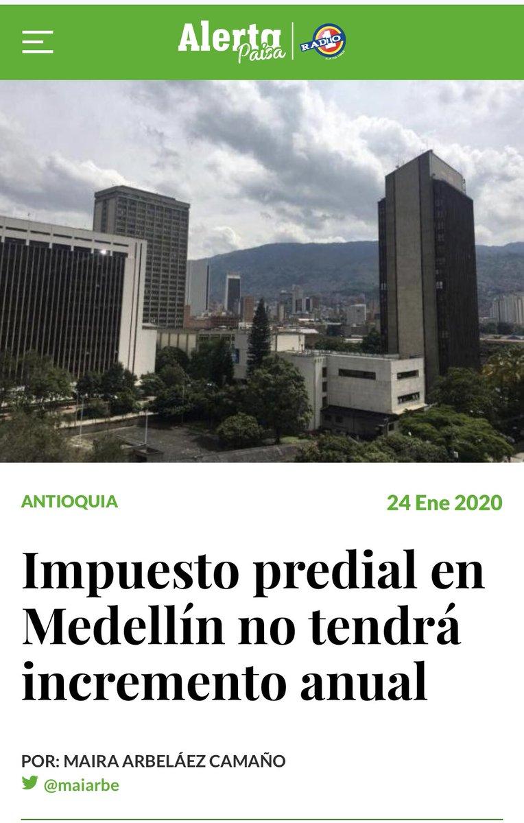 Alcaldesa @ClaudiaLopez ¿por qué el alcalde de Medellín @QuinteroCalle sí pudo congelar el impuesto predial y usted no, pese a que era una de sus promesas de campaña?