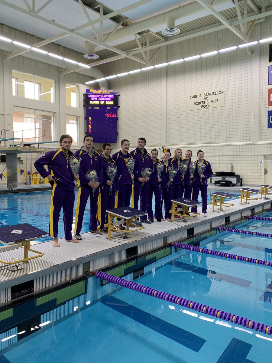 Celebrated this AMAZING group of seniors before our last home dual meet of the season today.  Thank you for the major contributions you've made to this program in and out of the pool! Not done yet, but so proud of all of you.  #EphPrideFOREVER #REPRESENT.