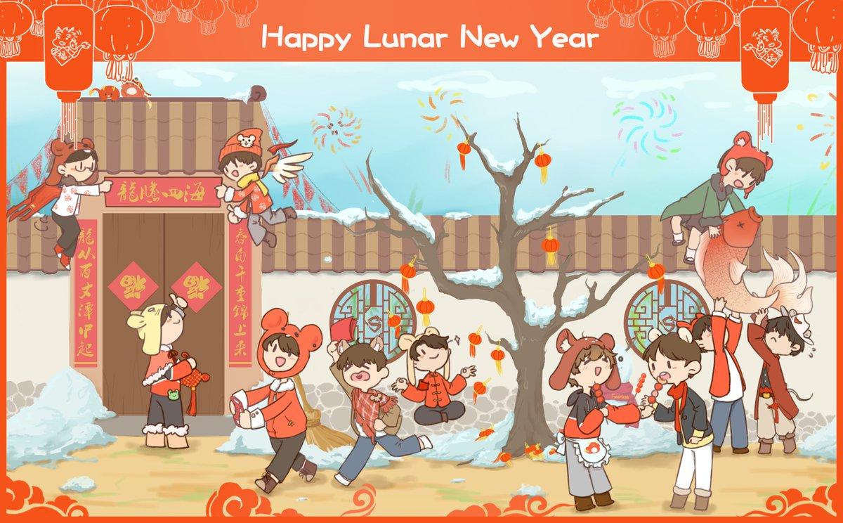 恭喜发财!새해 복 많이 받으세용!Happy Lunar New Year from everyone at the Dragons! Wishing you all fun and safe holiday! ⌒°(❛ᴗ❛)°⌒
