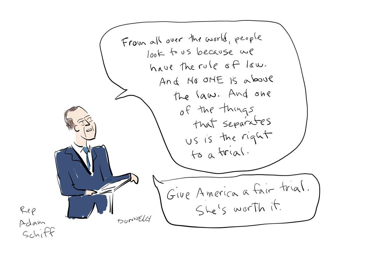 «Give America a fair trial.» @repadamschiff #senateimpeachmenttrial