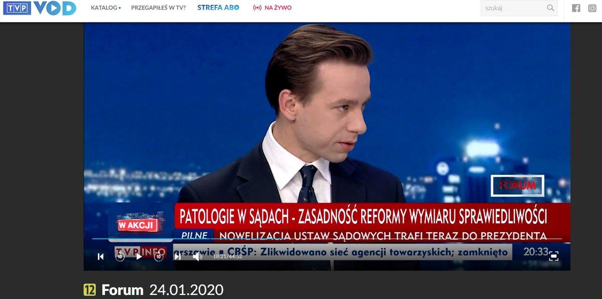Program #Forum  w @tvp_info  z udziałem kandydata Konfederacji na Prezydenta RP Krzysztofa Bosaka @krzysztofbosak    #WyboryPrezydenckie2020   #Bosak2020     https://vod.tvp.pl/video/forum,24012020,46059472  …