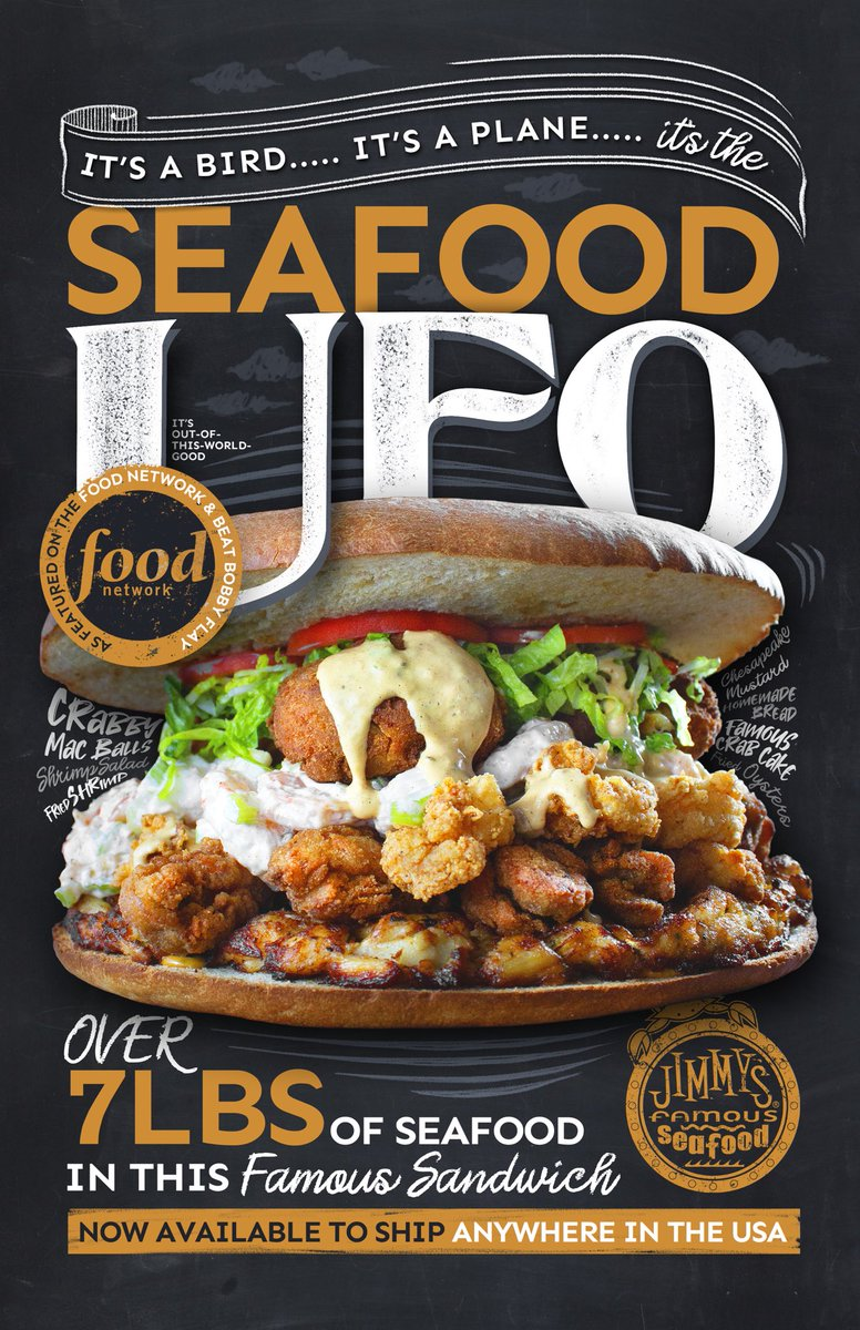 Enjoy our world-famous Seafood UFO anywhere in america! jimmysfamousseafood.com/product/ufo/ 🛸