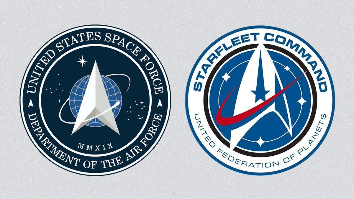 Okopírovali Star Trek. Logo Vesmírných sil USA se stalo terčem posměchu