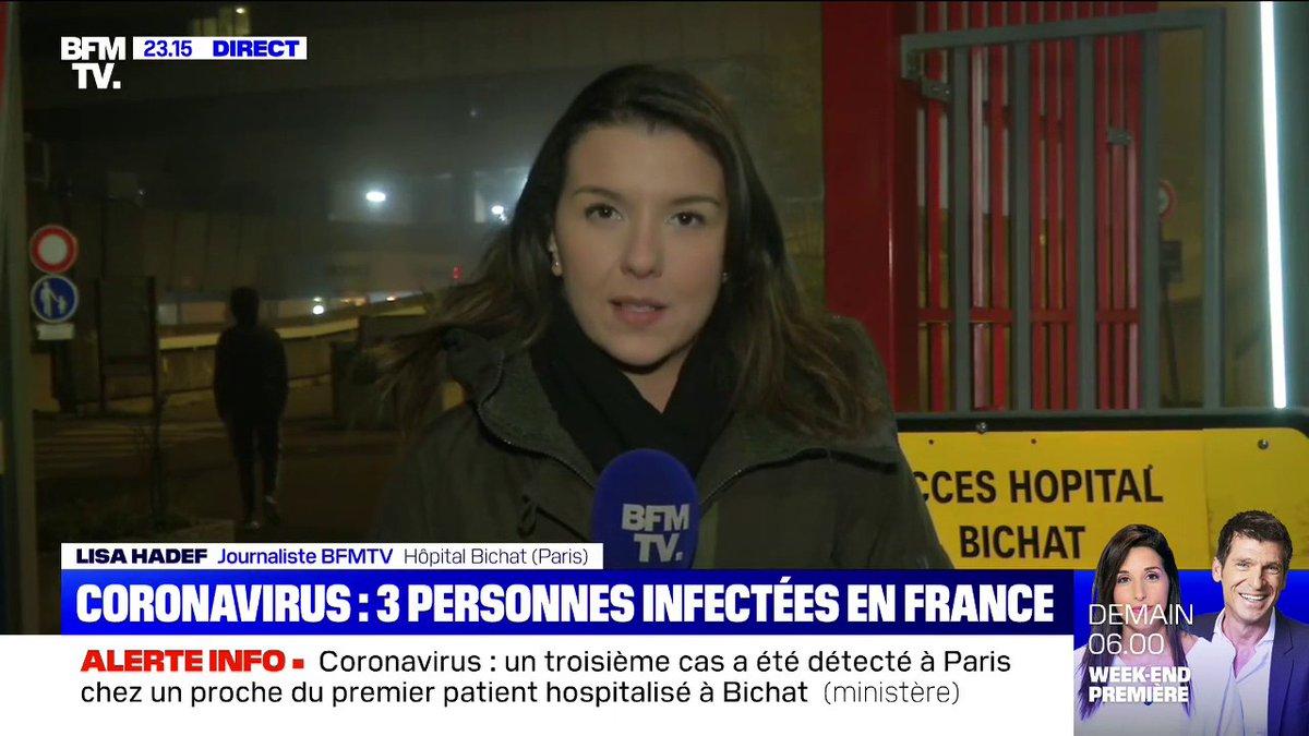 Coronavirus: un troisième cas a été détecté à Paris, chez un proche du premier patient hospitalisé à lhôpital Bichat