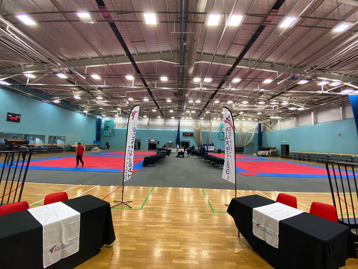 🗣| The venue is ready... 11 hours to go until the GB Open Poomsae Championships 2020 begins... 🇬🇧🥋 #GBOP2020