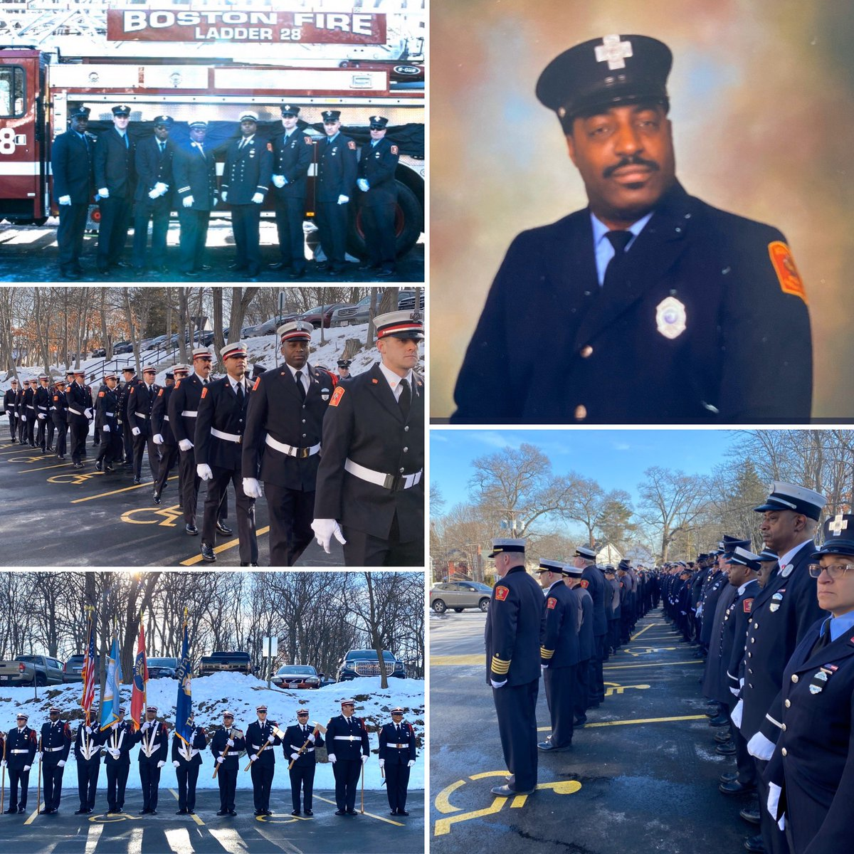 Today we said  a final goodbye to our brother firefighter Tillman Coy of the Fire Prevention Division, he will be missed Rest In Peace. @ChiefJoeFinn @LOCAL_718 @CityOfBoston<br>http://pic.twitter.com/NexQdlbRss