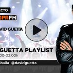 Image for the Tweet beginning: 🔴 #DIRECTO ¡Empieza @DavidGuetta Playlist
