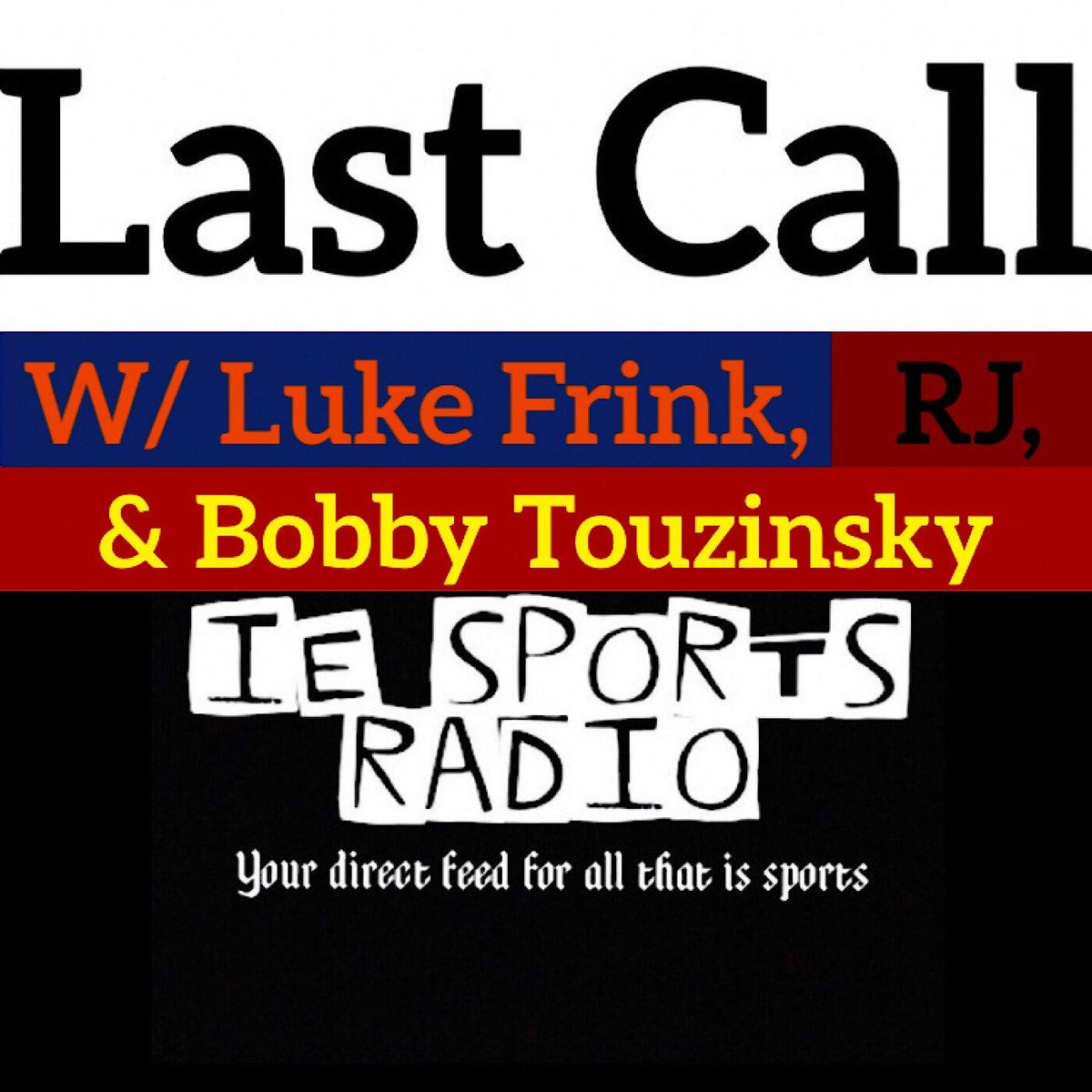 Next Up: FRI 1/24 5pm PST/8pm EST #LastCall with @RJKohlstedt2 @lukefrink05 & @BobTouzinsky #NFL #NFL100 #NFLPlayoffs #ChampionshipWeekend #MLB #EverybodyIn #ChangeTheGame #Bears100#NBA#BullsNation #NHL #STLBlues #Blackhawks #AYD #RAG
