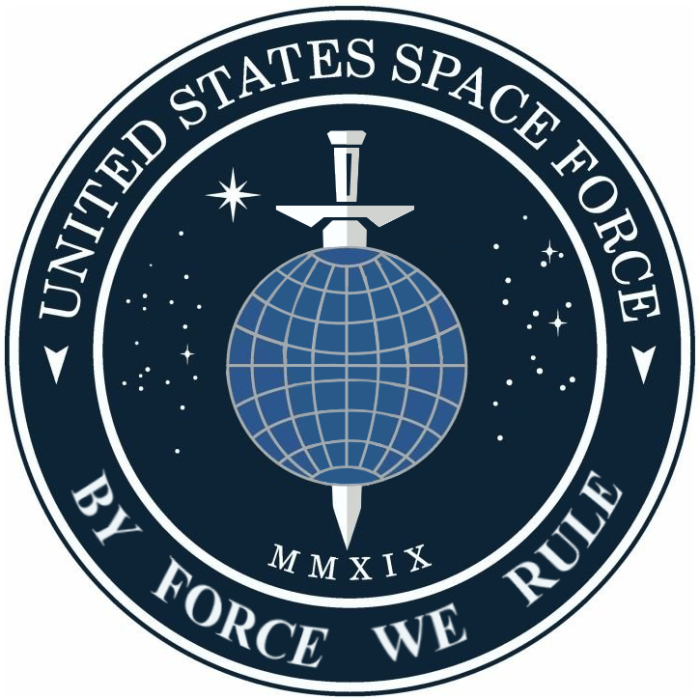 Heres a more accurate idea for a logo for Trumps Space Force based on his policies: