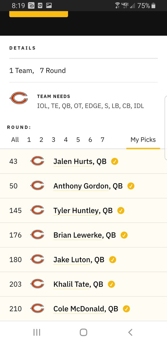 For the idiots that think QB is our only issue #Bears #Bears100