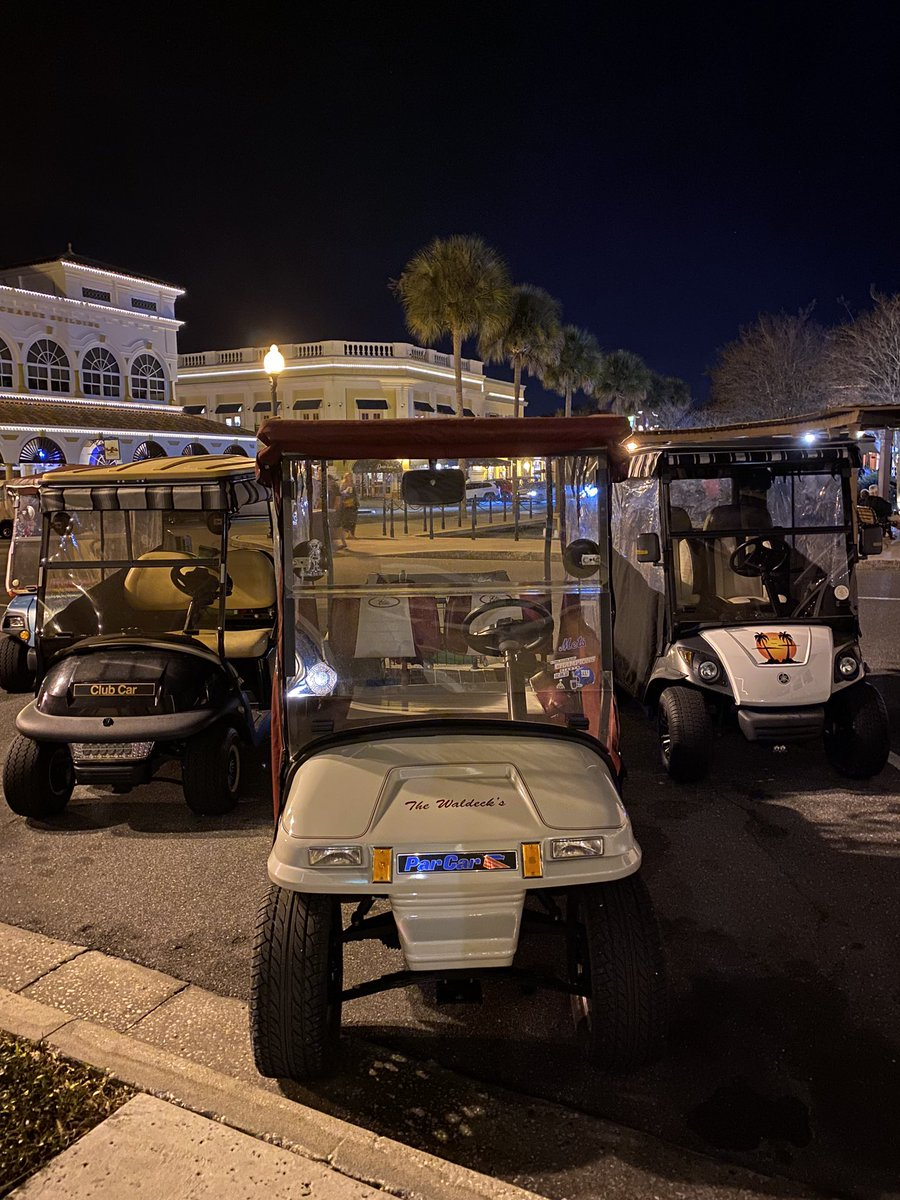 Oh ... and so many golf carts ... yet all of the parking spaces are sized for cars?