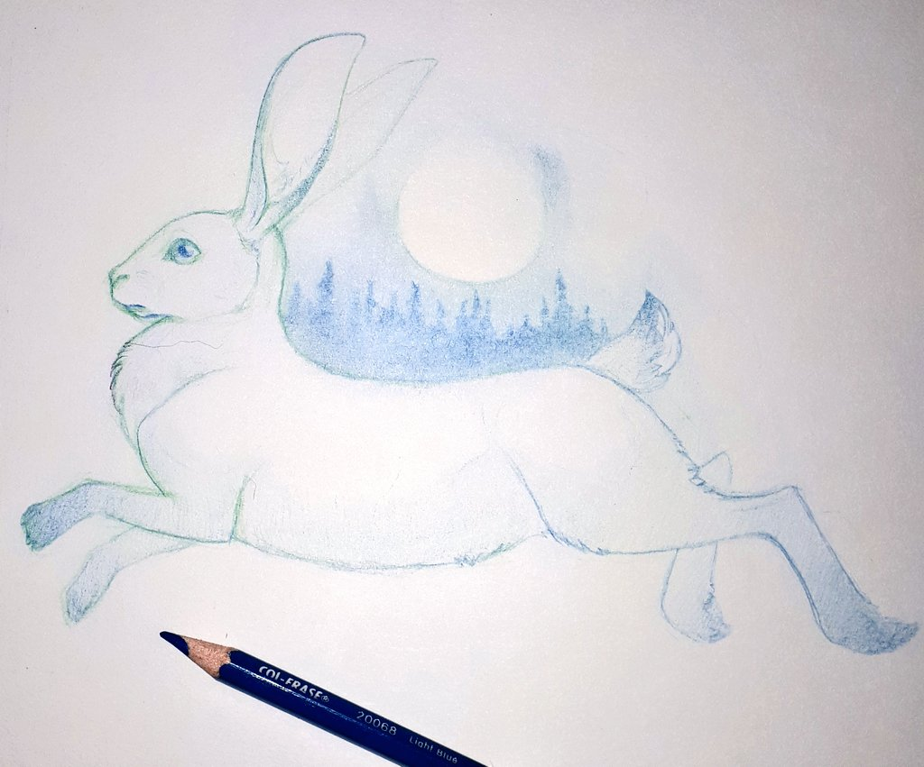 Sometimes ya just gotta draw a spooky hare<br>http://pic.twitter.com/DoAKH8gvNf