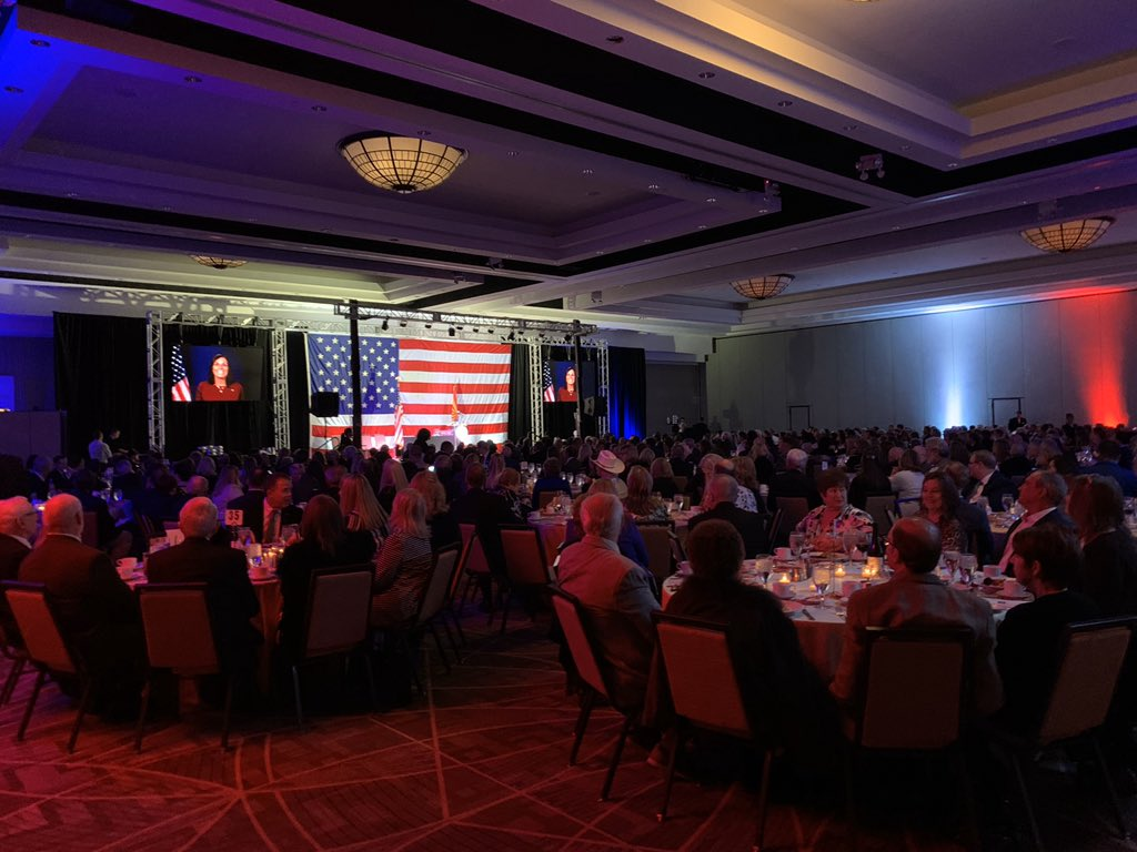 Wish I could be home in Arizona tonight with the @AZGOP, this whole room is fired up to win in 2020!