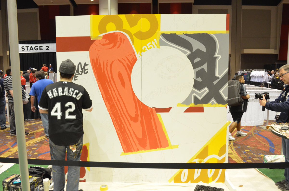 Three local artists are painting murals in the #SoxSocial Lounge this weekend during #SoxFest2020. Stop by to see them at work! https://t.co/teZ1qmahYm