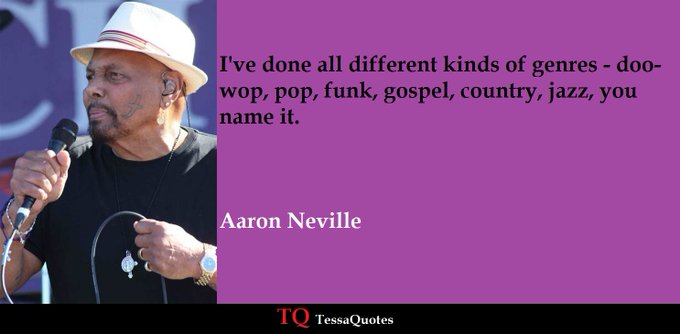 Happy birthday to Aaron Neville, born this day in 1941.