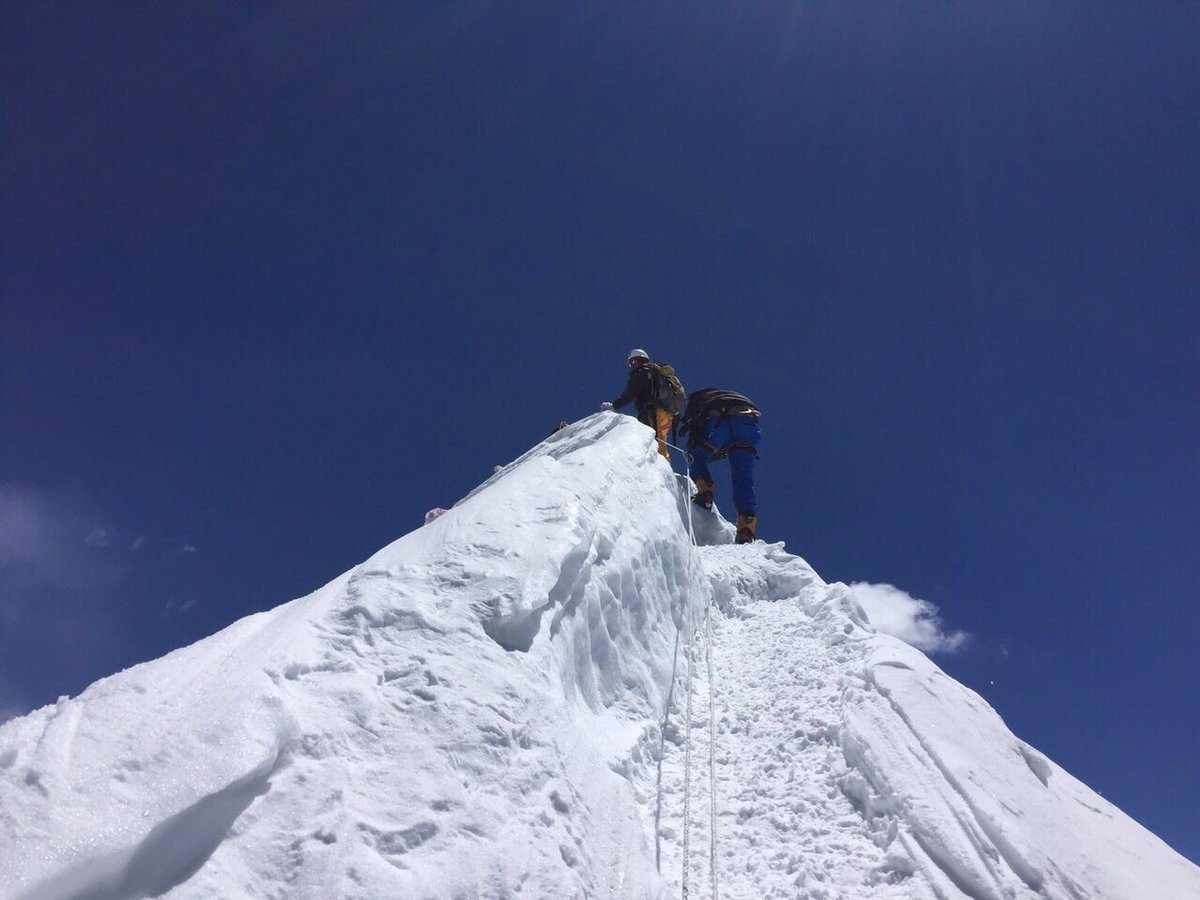 Island Peak Climbing via Gokyo Lake Cho La Pass. This exciting combination of Gokyo Lakes EBC & Island Peak makes for a proper acclamatization itinerary. #IslandPeak #ImjaTse #Trekking #Climbing #GokyoValley #EverestBaseCamp #Nepal #NepalTrips #LifetimeExpereinces #VisitNepal2020