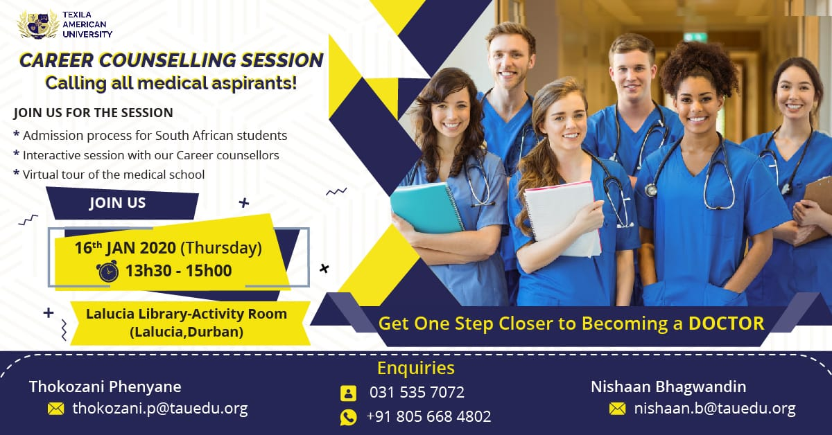 Do you know you can study to become a doctor in Zambia? You are welcome to attend the session on 30 Jan 2020 at The Sandton Indaba Hotel. @IndabaHotel Pse RT to help someone realise their dreams. #ThereIsAlwaysAWay #dreams #doctor #ReferralAssociate #TAU