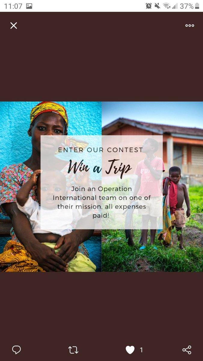 Win a trip to do good work. @operationintl #operationinternational #contest #travel #adventure
