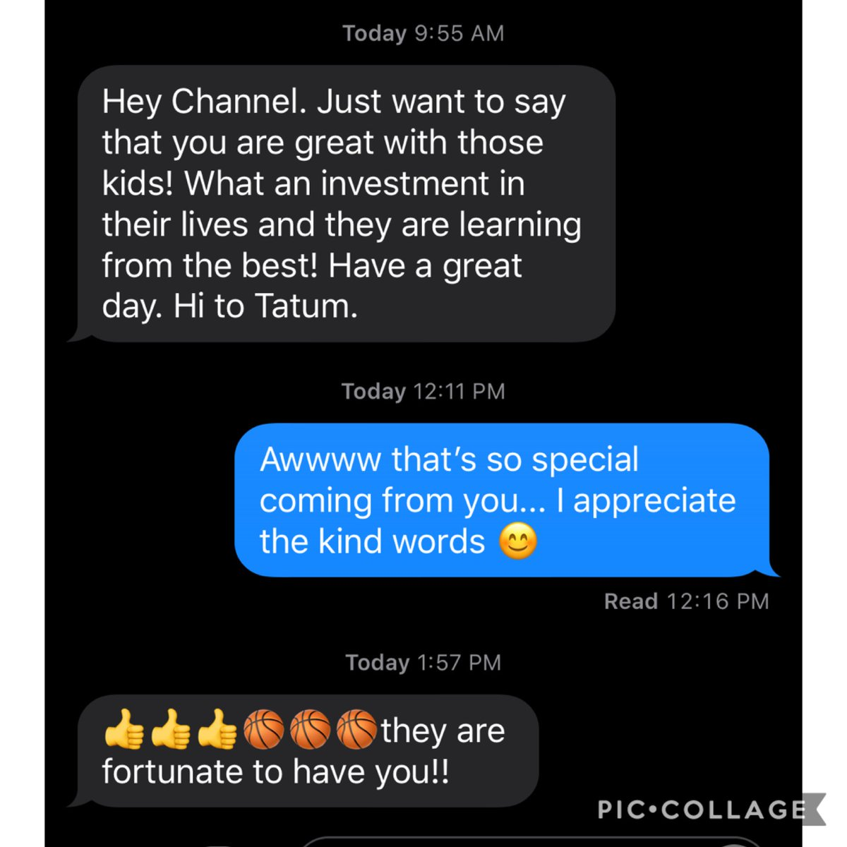 I really appreciate the kind words! All I want is for my daughter and her teammates that I train to be the best them they can be 🏀💪🏿 #Dreams #ReachingForGreatness #Hardwork