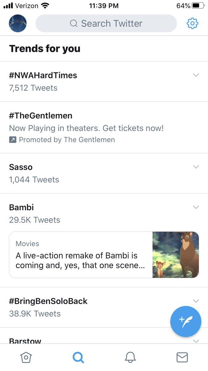 Sammy Sasso registering on the trending scale