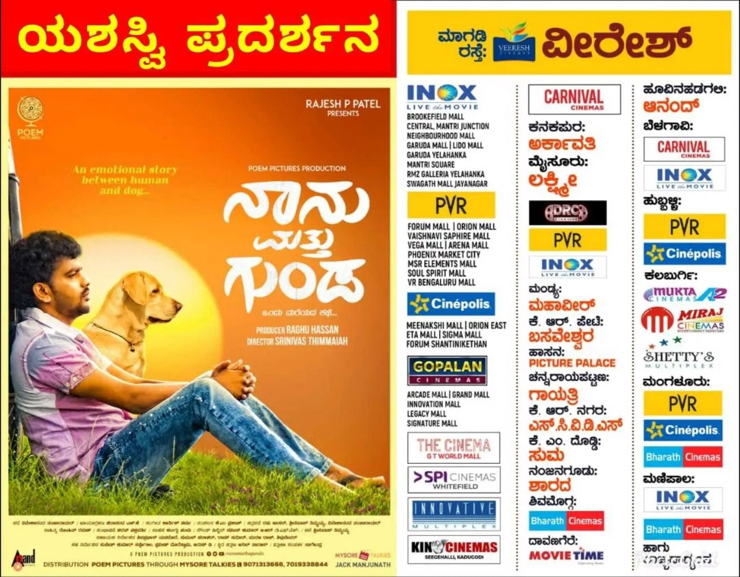 #ShivrajKrPete & @samyuktahornad ☆er #NaanuMathuGunda has got super response from audience. Head to theaters #KannadaMovieLovers