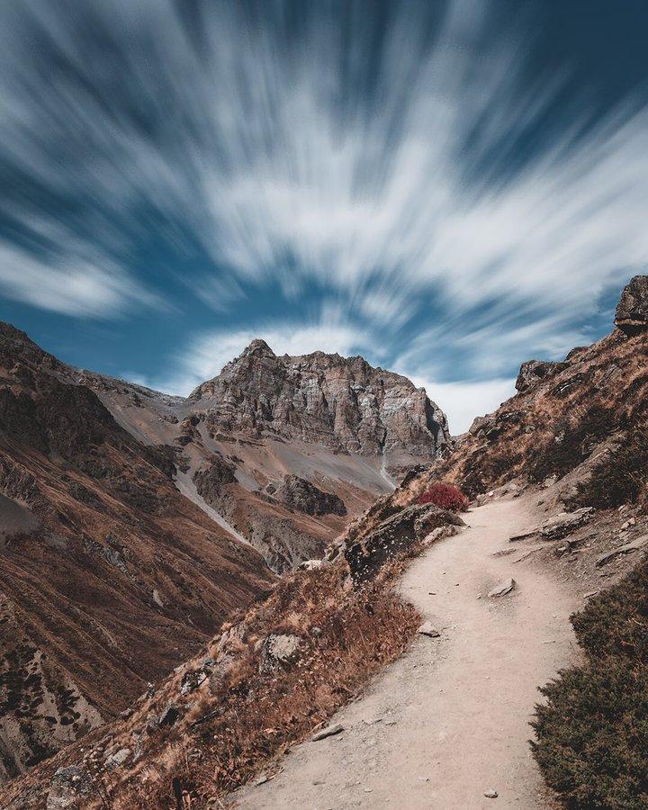 Thorang high camp. PC-@_Binaya_ #VisitNepal2020 #tourism #mounts #moutains #trek #trekking #travelling #hiking #camping #adventure #landscape  #Nepal