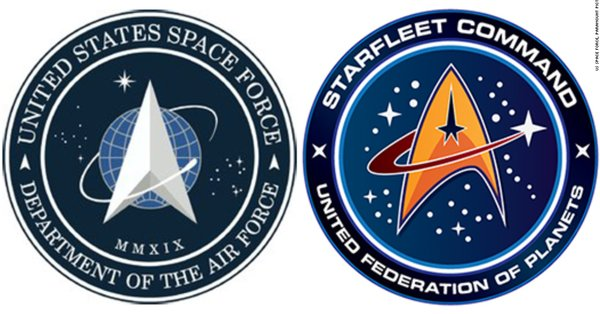 President Trump appeared to unveil the new US Space Force logo — and it bears an uncanny resemblance to the Star Trek insignia  https://cnn.it/2tDaHS9