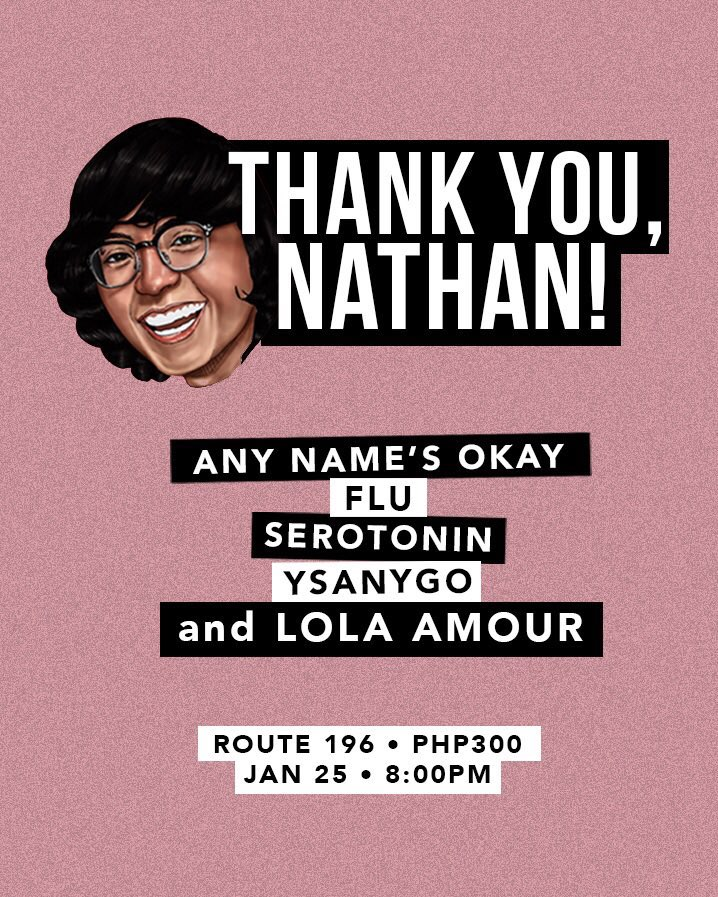 HAPPENING TONIGHT:  • Thanksgiving Gig @ Route 196 | Gates open at 8pm!  Bawal absent ha! Let's show our love and gratitude to our Nathan boy!  See you! <br>http://pic.twitter.com/p1YbqtbBJk