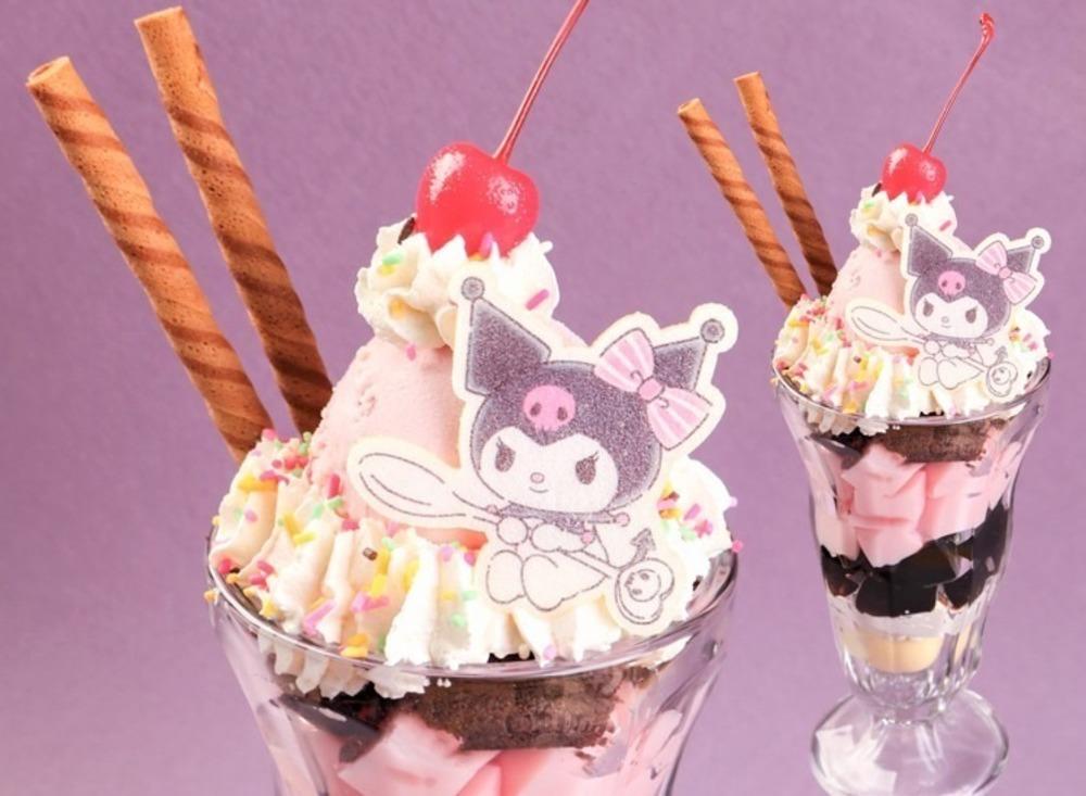 """「クロミ」サンリオコラボカフェがそごう千葉店で、ルビーチョコソースのパンケーキや""""耳""""を飾ったアイス -"""
