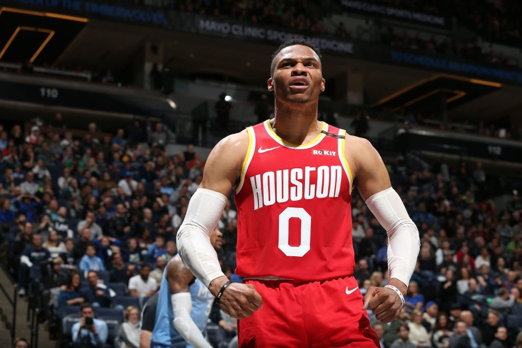 Russell Westbrook's 45 points are the most scored by a guard without attempting a 3 since Dwyane Wade had 48 against the Magic in December, 2007.
