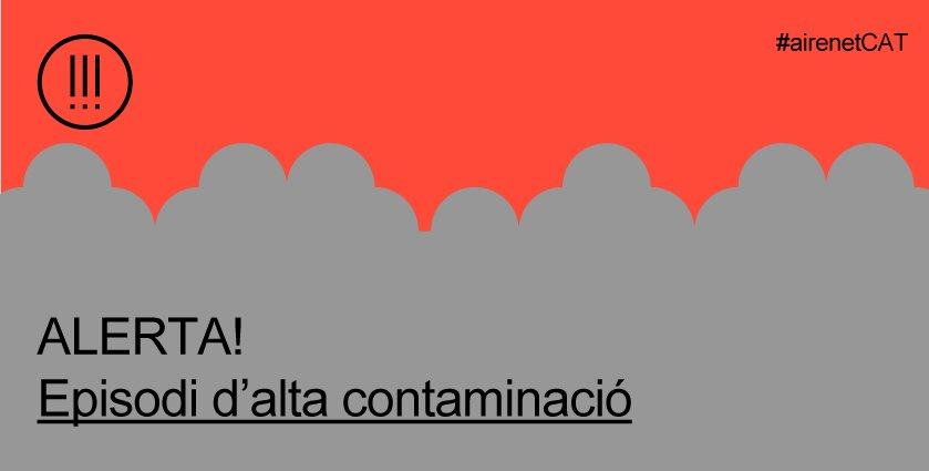 ⚠️ @gencat ha declarat unepisodi d'alta contaminacióper partícules PM10 a Catalunya. Es recomana moderar l'activitat física a l'aire lliure (sobretot persones amb malalties respiratòries) i desplaçar-se a peu, bicicleta o transport públic #Santcugat➡️ https://t.co/pM19tEZNpP