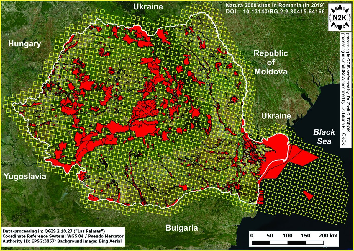 #map of #Natura_2000 (#European #network of #protected #areas) #sites distributed in the #continental #Romania and in the #Western part of the #Black #Sea  original material at:   details on the #project: