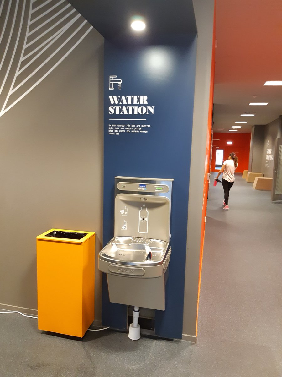 @F24S_SWE are opening new locations at an impressive speed - and with exciting new equipment! Check out these brand new bottle #refill stations we supplied 🚰 @Elkay_USA #fitness #gym #workout #water #drinkwater #drink #ecofriendly #zerowaste #health