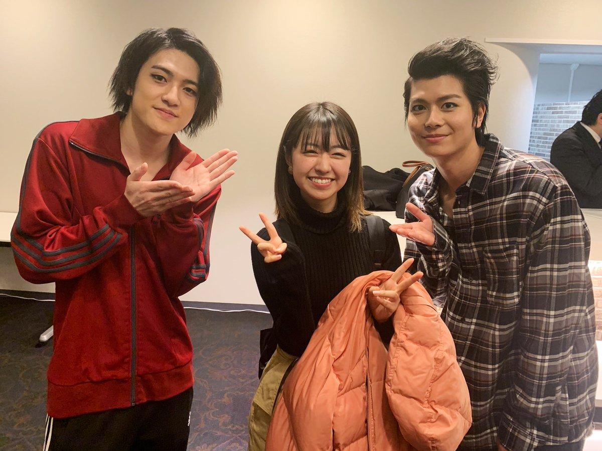 にて ぶりの、たわちゃん!!! 相変わらず輝いてたし面白かった  そして横にいた松村優さんも一緒に写ってくださった  てれび戦士以外のキャストさんも、すごく豪華で素敵なのだよ… https://t.co/7x6fHrUqAa