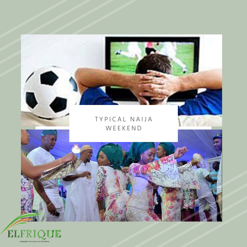 An Ideal Saturday for the Men and Woman what do you think? #weekendmood #soccertime #owambe #events #eventmanagement #ticketsales #eventvoting #formsales #trivia #elfriquepic.twitter.com/ojGDqyYm9e