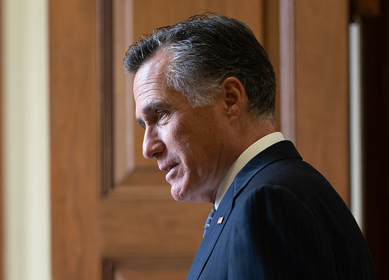 """During the break, Republican Sen. Mike Braun walked by colleague Mitt Romney and told him, """"I think we've got another six hours.""""  Romney, seeming genuinely surprised and overwhelmed, replied, """"Oh jeez. Shaking his head, he added: """"No one's watching!""""  https://cnn.it/2RoEery"""