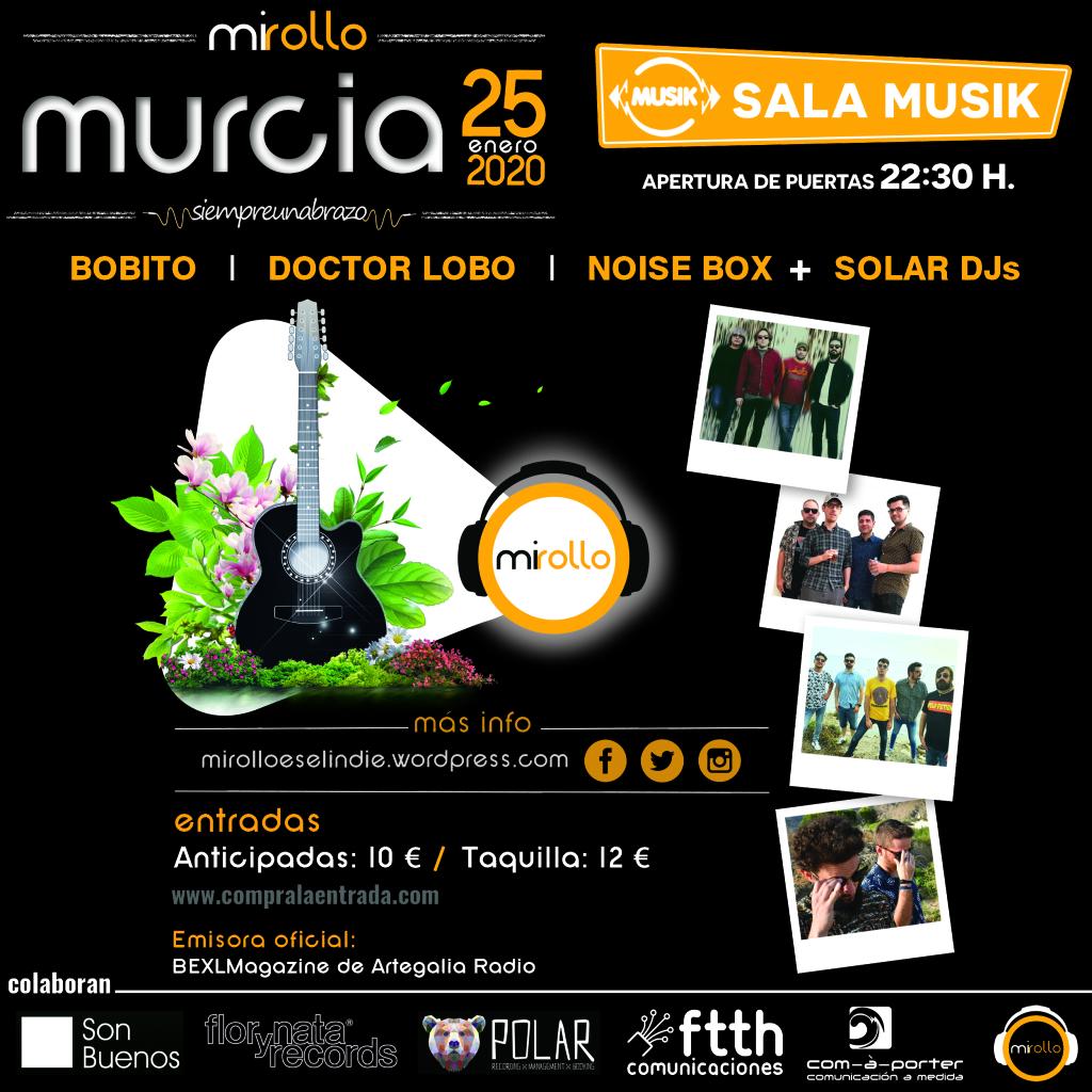 Estamos en la @salamusikmurcia dándolo todo, abrazando y bailando!!! #MiRollo #MiRolloesMurcia #MiRolloFestMurcia #MúsicayAbrazos #SiempreUnAbrazo #MiRolloerestú #MúsicaEmergente #Indie #IndiePop #IndieRock #FestivalIndie… https://mirolloeselindie.wordpress.com/2020/01/25/estamos-en-la-sala-musik-de-murcia-dandolo-todo-abrazando-y-bailando/…pic.twitter.com/1EgOJOcH3a