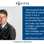 Image for the Tweet beginning: Politiechef vertrekt naar de #AIVD