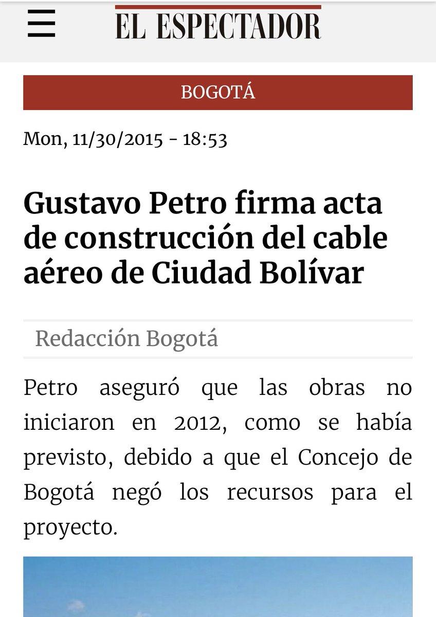 Concejal no puede comparar el cable de Ciudad Bolívar con la troncal de TM 68. @EnriquePenalosa no pudo tumbar el cable porque @petrogustavo no solo licitó sino que dejó firmado el contrato y con acta de inicio.@ClaudiaLopez recibió una licitación que no había sido adjudicada. https://twitter.com/eljulisastoque/status/1220747181759569921…