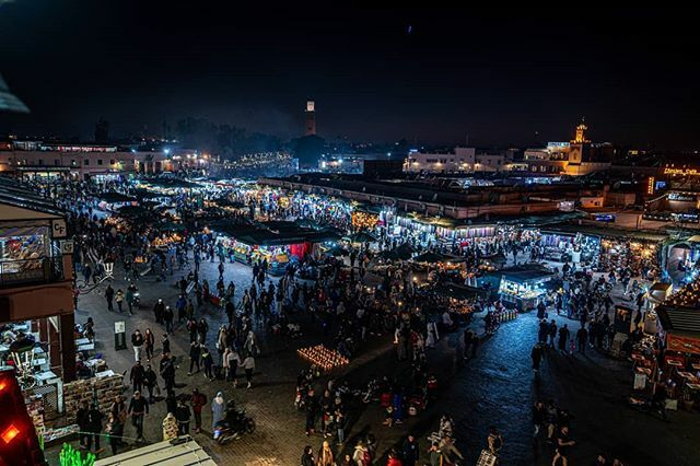 #Morocco2020 #jemaaelfna #market #night #crowd #travel #sony #tamron1728