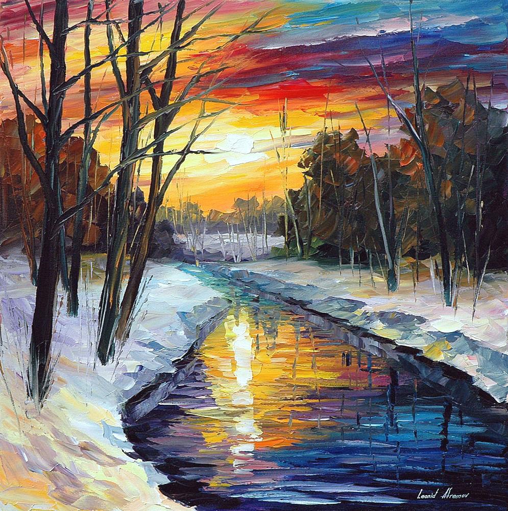 WINTER — PALETTE KNIFE Oil Painting On Canvas By Leonid Afremov https://afremov.com/winter.html  This is hand painted artwork from Leonid Afremov  #contemporarydesign #contemporaryartgallery #wallartforsale #abstractartworkpic.twitter.com/2bOdrCmx2m