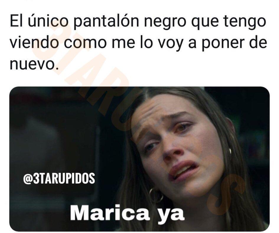 Etiqueta a tu amig@ que siempre se colocan el mismo pantalón  una y otra vez #tarupidos #3tarupidos #instagram #spain #jajaja #comedy #argentina #humornegro #fun #instagood #lmao #funnymemes #humornegro #humor #ol #memes #momos #risas #memesespa #chistes #meme #k #risapic.twitter.com/miE7AChXRS