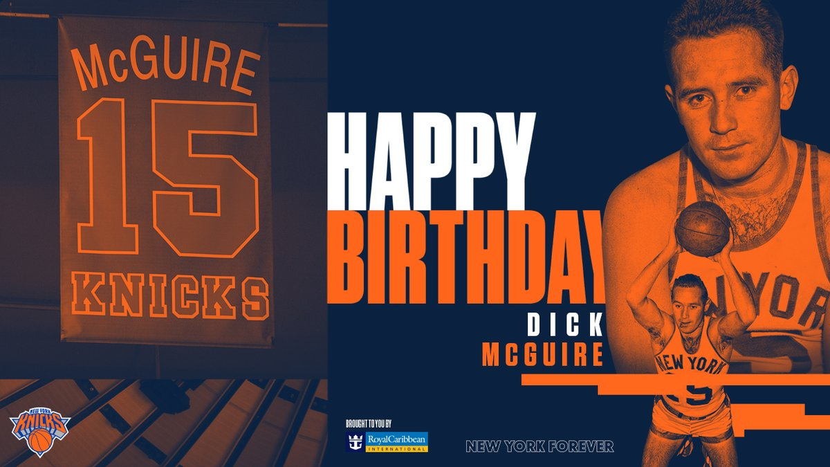 1️⃣5️⃣ Today was celebrate the Hall of Famer, Dick McGuire 🎈