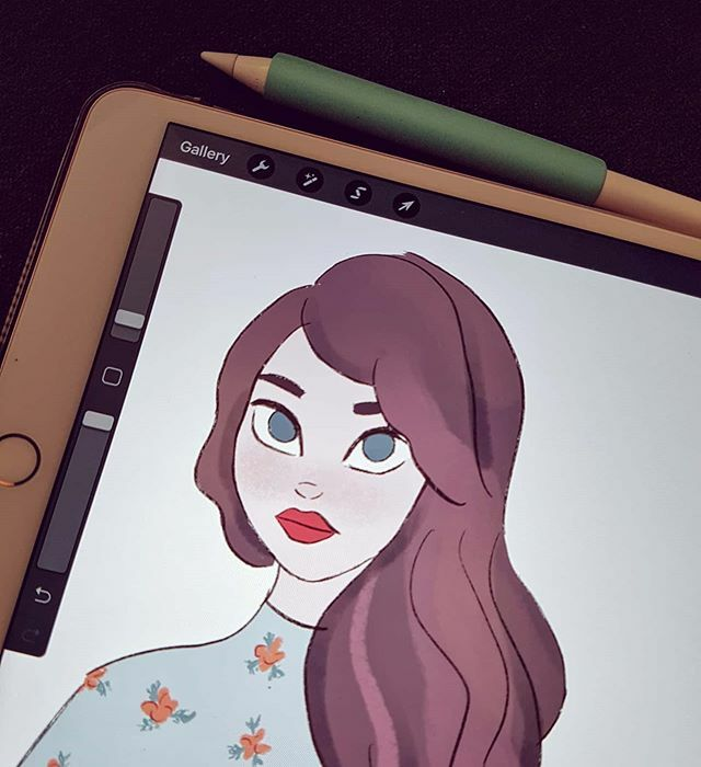Just a little sketch for today, because I like it in this state and I'm afraid to destroy it by finishing it  Done in procreate. . . . #illustration #drawing #sketch #doodle #workinprogress #sketchdaily #sketchbook #flowerblouse #girlportrait #port… https://ift.tt/30QrVaP pic.twitter.com/YrqouHN9Bk