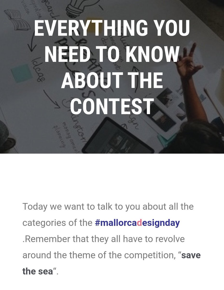 🗯️📰 Today on our website we tell you everything you need to know about the contest categories of #mallorcadesignday ✏️🗒️  #fashion #interiorism #photography #trend #creativity #sustainability #savethesea #ethicalfashion #sustainableworld #circulareconomy