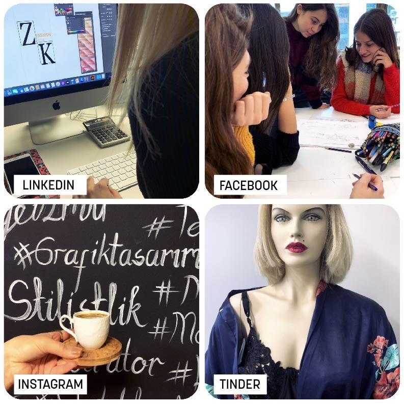 Atölye İzmir, insanların kendilerini sosyal medyanın farklı versiyonlarında nasıl yansıttıklarına dair eğlenceli bir fotoğraf paylaşarak bu trende kayıtsız kalmadı.☺️ #sosyal #medya #instagram #facebook #lınkedın #tınder #design #fashıon #graphıc #graphıcdesign #fashıondesıgn