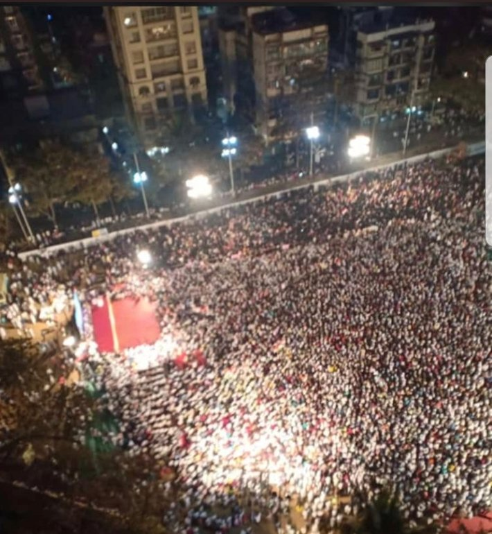 Protest Growing Larger in  with each passing day .Few Snaps at Agripada Mumbai protest.<br>http://pic.twitter.com/s5gNWXiUyg