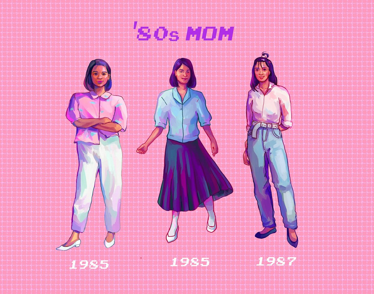 my mom's fashion in the '80s  (thread)  #artph<br>http://pic.twitter.com/nalKCDkXUb